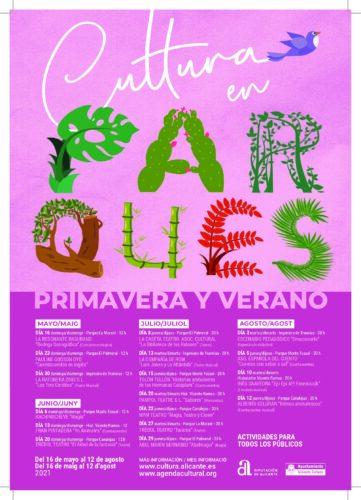 CULTURA EN PARQUES- PRIMAVERA Y VERANO 2021 @ Varias ubicaciones | Alicante (Alacant) | Comunidad Valenciana | España